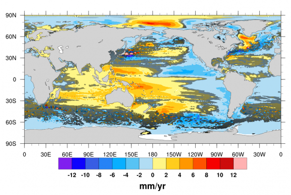 Atmospherically-forced regional sea level trends over 1993-2015